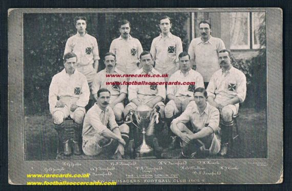 1906 London Senior Cup New Crusaders pc